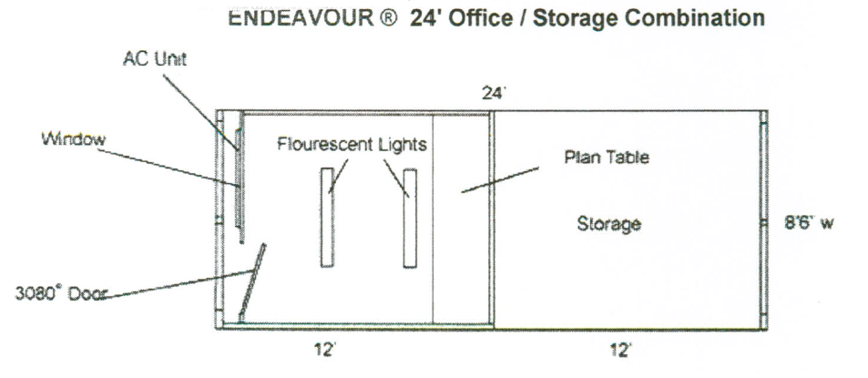Endeavour 24' Office/Storage Combination
